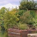 Shannon River Barge by Karen Desrosiers