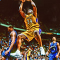 Shaquille O'neal Los Angeles Lakers Oil Art by Joe Hamilton