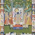 Sharad Utsav - V by Pichwai Pichvai Pichhavai Pitchwai