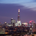 Shard Oxo Tower London Eye Walkie Talkie From Balfron Tower by Monika Tymanowska