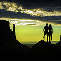 Sharing A Monument Valley Sunrise by Priscilla Burgers