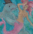 Shark And The Mermaid  by Russell Dillon