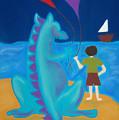 Sharlie With Kites by Christine Crosby