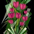 Sharp Blades Of Tulips  by Kathleen Hromada
