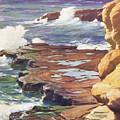 Sharp Rocky Coastline by Hawaiian Legacy Archive - Printscapes