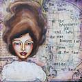 She Didn't Know - Inspirational Spiritual Mixed Media Art by Stanka Vukelic