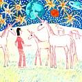 She Meets The Moon Unicorns by Sushila Burgess