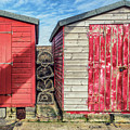 Sheds And Fishing Baskets  by James Billings