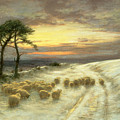 Sheep In The Snow by Joseph Farquharson