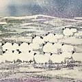 Sheep In Winter by Suzi Kennett