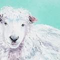 Sheep Painting - Jeremiah by Jan Matson