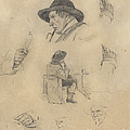 Sheet Of Sketches by Lovis Corinth