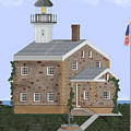 Sheffield Island Lighthouse Connecticut by Anne Norskog