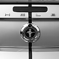 Shelby Ford Mustang Trunk Lid And Badge In Black And White by Peter Lloyd