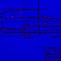 Shelby Gt Mustang Blueprint by Tommy Anderson