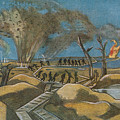 Shelling The Duckboards by Paul Nash