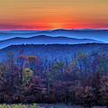 Shenandoah Valley Sunset by Louis Dallara
