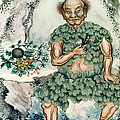 Shennong, Chinese God Of Medicine by Wellcome Images