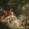 Shepherd And Shepherdess by Francois Boucher