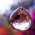 Sherbet Crystal Teardrop by Susan Vineyard