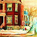 Sherbrooke In Winter by Carole Spandau