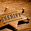 Sheriff Badge - Sepia by Olivier Le Queinec