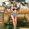 Sherman Tank Pin-up by Robert Alvarado