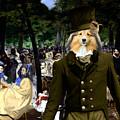 Shetland Sheepdog Art Canvas Print - Music In The Tuileries Gardens by Sandra Sij