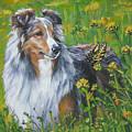 Shetland Sheepdog Wildflowers by Lee Ann Shepard