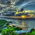 Shine On Me Waimea Beach Sunset Hawaii Collection Art by Reid Callaway