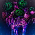 Shining Flowers  by Britta Zehm