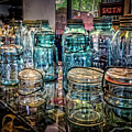 Shiny Glass Jars by Debra and Dave Vanderlaan