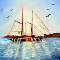 Ship At Mallory Square by Darlene Green