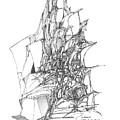 Ship Embedded In Rocks by Padamvir Singh
