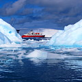 Ship In Between Icebergs by Harry Coburn