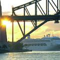 Ship Under Sydney Harbour Bridge by Suzanne Vreeland