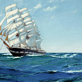 Ship Waimate by Montague Dawson