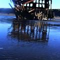 Ship Wreck At Fort Stevens Park Oregon by Steve Patton