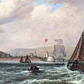 Shipping Off Newhaven Harbour by MotionAge Designs
