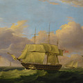 Shipping Off The Eddystone by Thomas Luny