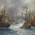 Ships Off The Coast Of Constantinople by Vasilios Chatzis