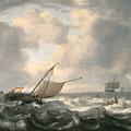 Ships On A Choppy Sea by Hendrik van Anthonissen