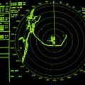Ship's Radar Screen While In Port by David Parker