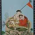 Shiva Romancing With Parvatti. by Anshu Mohan