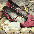 Shoes At The Makeshift Memorial by Joan Carroll