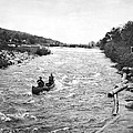 Shooting The Rapids In Maine by Underwood Archives