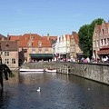 Shops Along The Canal by David L Griffin