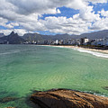 Shoreline Of Ipanema  by George Oze
