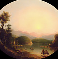 Shoshone Indians At A Mountain Lake by Mountain Dreams