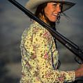 Shotgun Annie Western Art By Kaylyn Franks by Kaylyn Franks